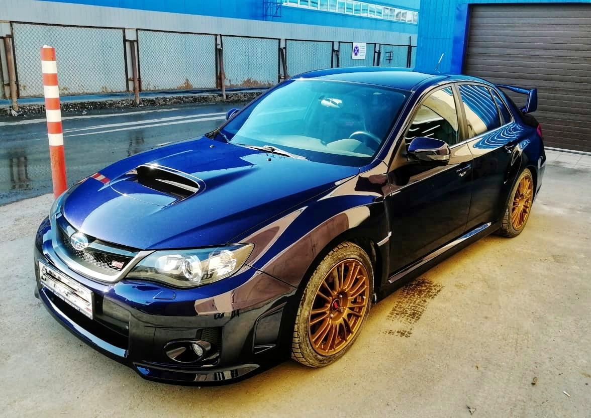 Кузовной участок: Ремонт Subaru Impreza WRX STi 2011 года.